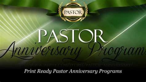 pastor anniversary program templates pastor anniversary pastor appreciation programs 23908