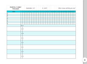 habit tracker template bullet journal habit tracker spreadsheet template by thatteacherperson