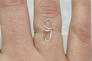 initial ring letter j ring personalized wire initial ring With j letter ring