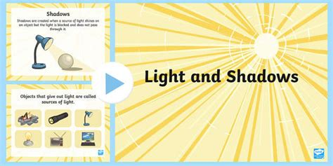 light  shadow ks facts powerpoint teacher