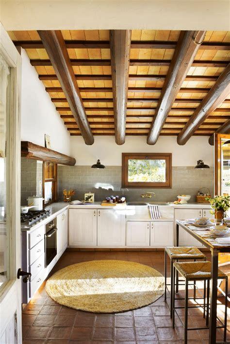 vigas fibras  marmol en  cocinas decoracion de