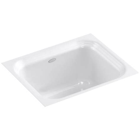 kohler brockway sink single kohler northland undermount cast iron 15 in single bowl