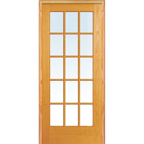 wood interior doors home depot builder 39 s choice 48 in x 80 in 10 lite clear wood pine