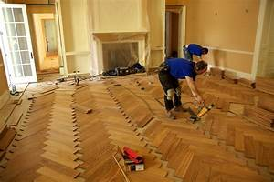 Herringbone wood floor installation parquet wood flooring for How to install parquet flooring