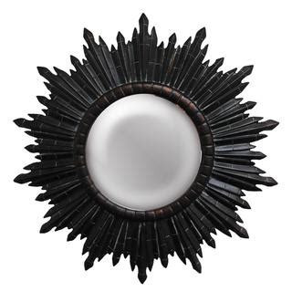 dark sunburst framed black mirror