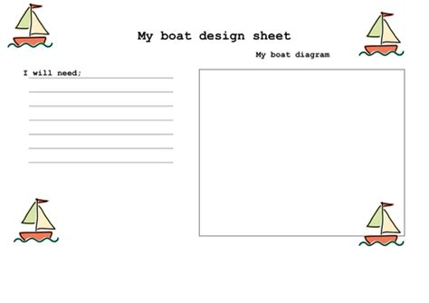 How To Make A Boat Ks1 by Dt Boat Design Sheet By Ruthbentham Teaching Resources
