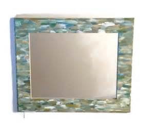 beach themed bathroom mirror shabby chic hand by mullaneink