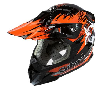 motocross crash helmets chaos kids motocross crash helmet orange