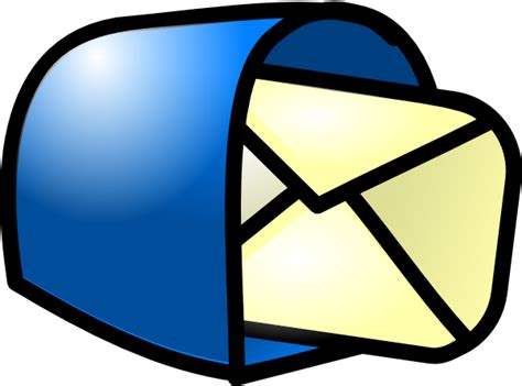 email clipart you got mail blue clip at clker vector clip