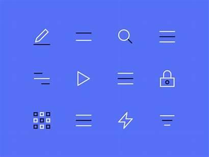 Interactive Icons Nucleo Animated Dribbble Guerriero Sebastiano