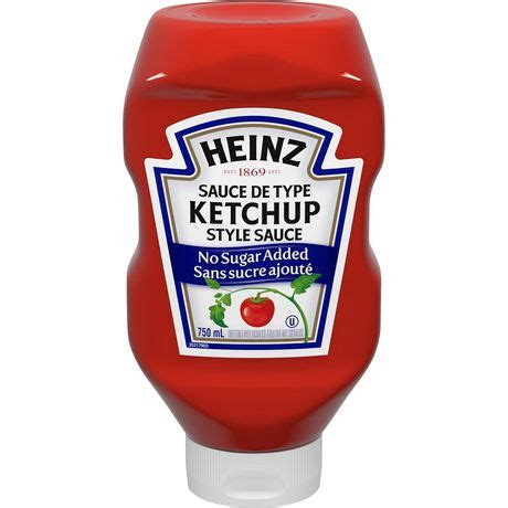 Heinz Tomato Ketchup No Sugar Added | Walmart Canada