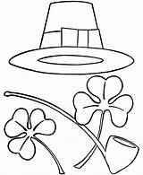 Patrick Coloring Pages St Sombrero Patricks Printable Sheets Hat Irish Shamrocks Saint Shamrock Clipart Patty Holiday Print Cliparts Mexican Pipe sketch template