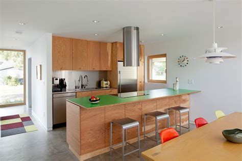 galley kitchen lighting Kitchen Contemporary with bar