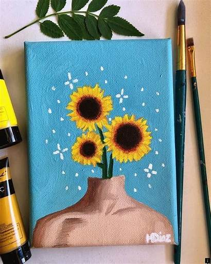 Aesthetic Painting Canvas Acrylic Easy Paintings Simple