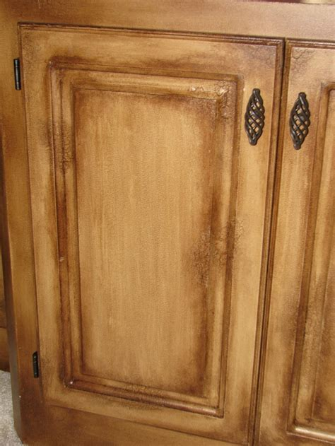 Distress/Crackle finish  Kitchen cabinet refinish