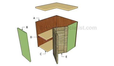 How To Build A Corner Cabinet With Doors - corner cabinet plans howtospecialist how to build