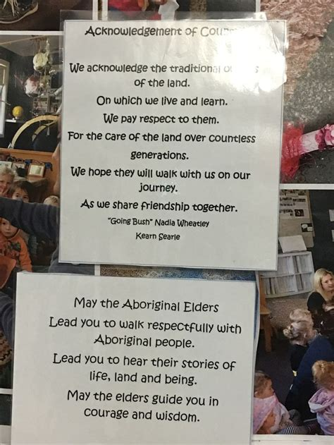 lovely acknowledgement  country  explore develop