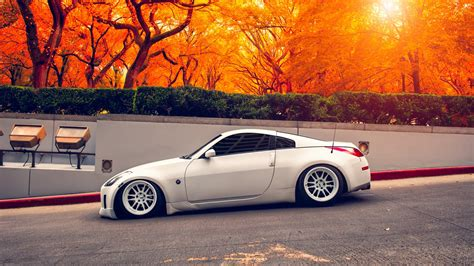 nissan 350z wallpaper nissan 350z autumn hd cars 4k wallpapers images