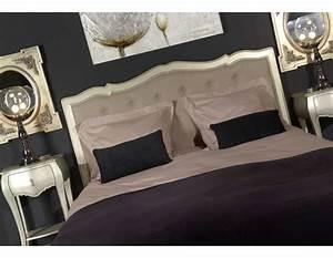 Tete De Lit Argent : t te de lit argent de style baroque pour la chambre lit de 160 cm ~ Teatrodelosmanantiales.com Idées de Décoration