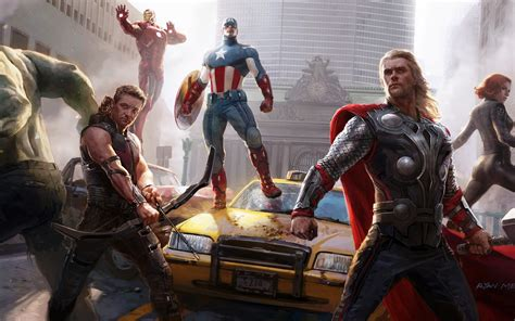 The Avengers Concept Art Wallpapers