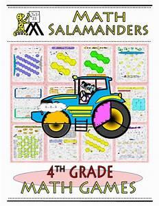 4th Grade Math Games Booklet