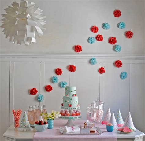 Blue And Red Girls Birthday Cake Decoration