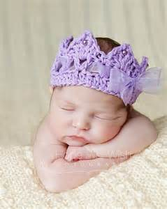 crochet elastic ribbon crochet crown newborn baby crown princess royalty tiara