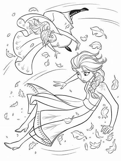 Frozen Coloring Pages Elsa Anna Gale Disney