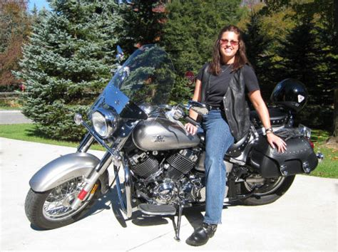 Women On Motorcycles Picture Of A 2008 Yamaha V-star