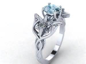 lord of the rings engagement rings buy a handmade elvish flower and leaves infinity symbol engagement ring made to order from