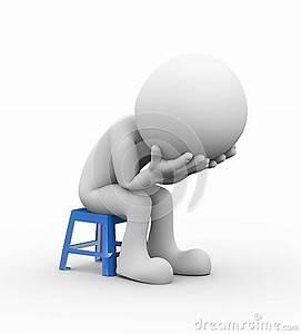 3d Sad Depressed Person Stock Illustration - Image: 51186816
