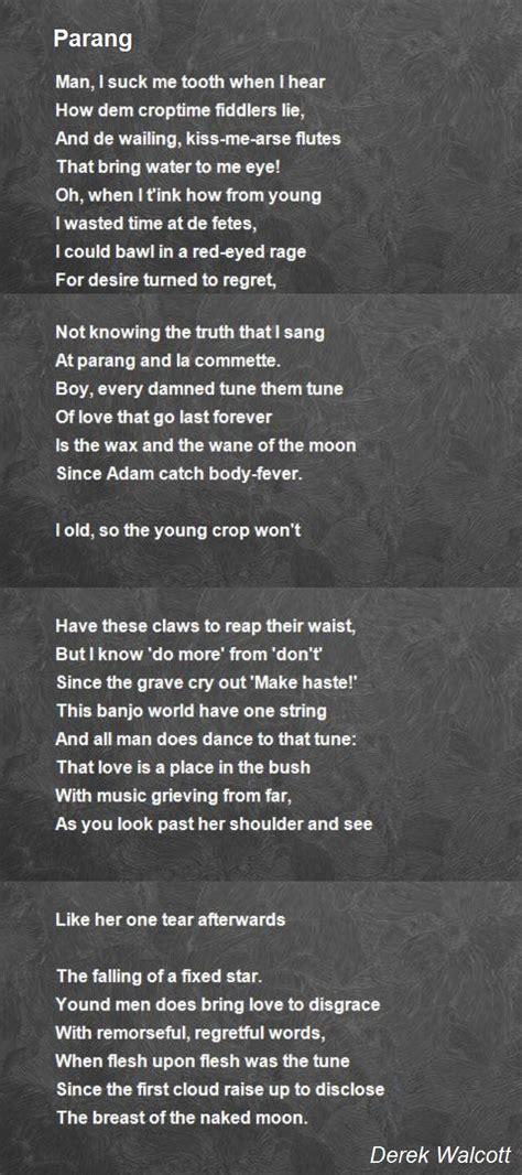 parang poem  derek walcott poem hunter