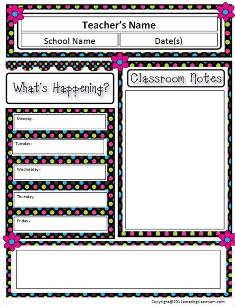 awesome classroom newsletter templates designs