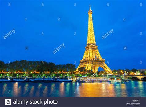 Paris Eiffel Tower Sunset Trocadero View Stock Photos