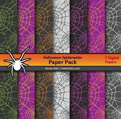 halloween spiderwebs digital paper pack
