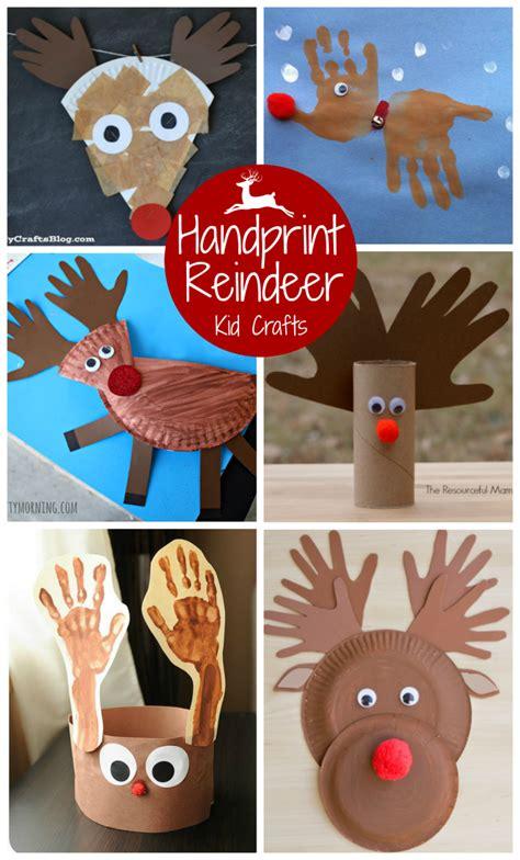 top ten reindeer kid crafts the resourceful 298 | 6 handprint reindeer kid crafts