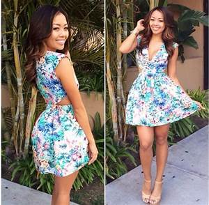 Dress: floral dress, cute, spring, summer, floral, cut-out ...