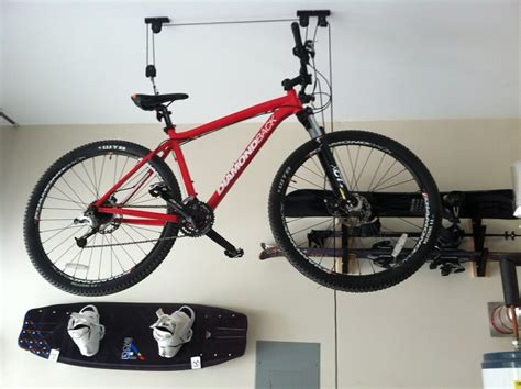 2 bike bicycle lift ceiling mounted hoist storage garage