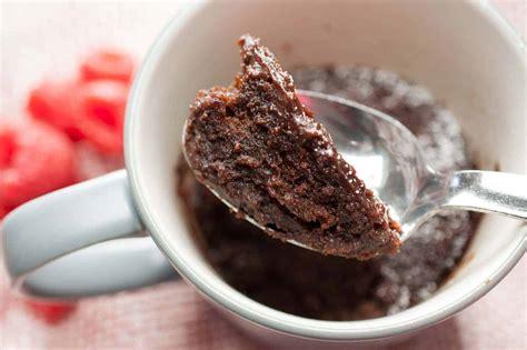 microwave eggless chocolate mug cake  butter