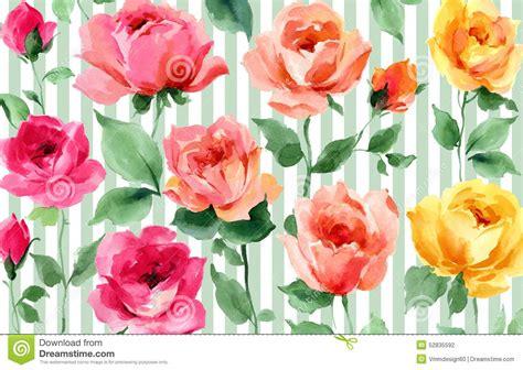 foto de Papier Peint Sans Couture Floral De Jardin D'aquarelle