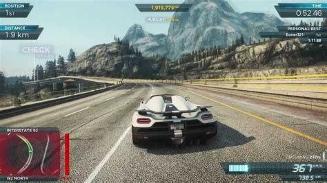 koenigsegg agera r need for speed pursuit nfs most wanted 2012 koenigsegg agera r 2 1080p