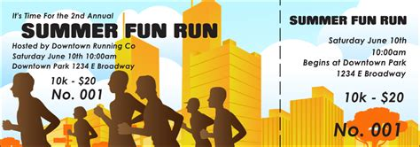 how much is a ticket for running a light run event ticket