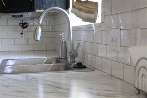 white subway tile backsplash home depot kitchen transformation part 2 and review of rustoleum