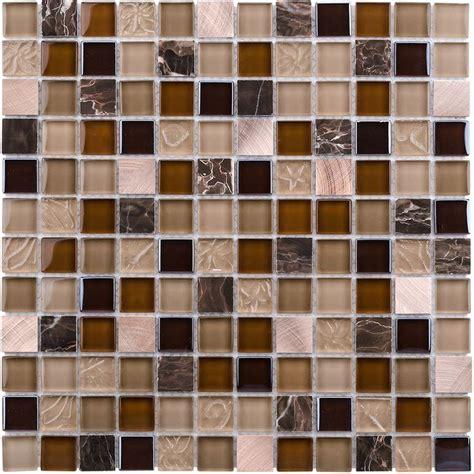 shop elida ceramica coral light glass mosaic square indoor