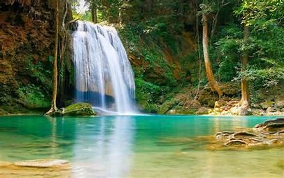 Desktop Backgrounds Nature Water Trees Falls Rock