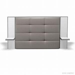 Lit Avec Chevet Intégré Conforama : tete de lit 160 avec chevet integre table de lit ~ Teatrodelosmanantiales.com Idées de Décoration