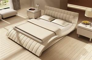 Lit En Cuir : lit design en cuir italien de luxe belia blanc mobilier priv ~ Teatrodelosmanantiales.com Idées de Décoration