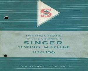 Singer 111g156 Industrial Sewing Machine Instruction Book
