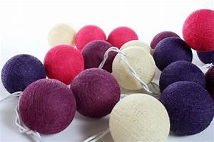 Guirlande Boule Lumineuse : guirlande lumineuse de boules de coton sukhothai guirlandes lumineuses boules de coton ~ Teatrodelosmanantiales.com Idées de Décoration