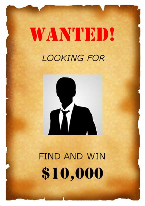 6 Best Images of Printable Wanted Poster Template - Blank ...
